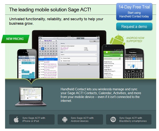 HandHeld Contact HHC pricing and info for iPhone Ipad Android BB