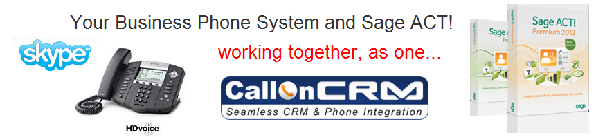 ACT integrated with the phone using Call on CRM